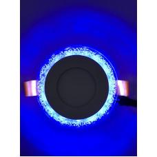 "LED панель ""Бульбашки"" 3+3W с синей подсветкой 350Lm 4500K 175-265V ""LEMANSO"" LM906 круг"