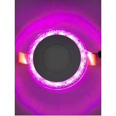 "LED панель ""Бульбашки"" 3+3W с розовой подсветкой 350Lm 4500K 175-265V ""LEMANSO"" LM906 круг"