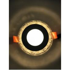 "LED панель ""Бульбашки"" 3+3W с жёлтой подсветкой 350Lm 4500K 175-265V ""LEMANSO"" LM906 круг"