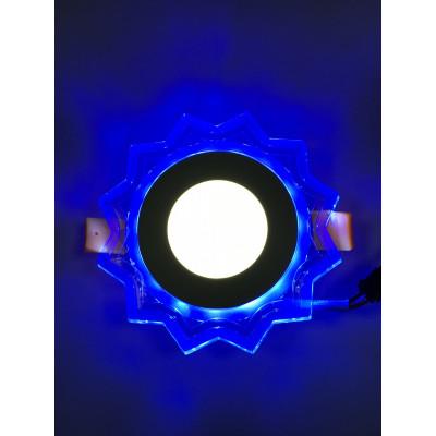 "LED панель ""Солнышко"" 3+3W с синей подсветкой 320Lm 4500K 175-265V ""LEMANSO"" LM907 круг"