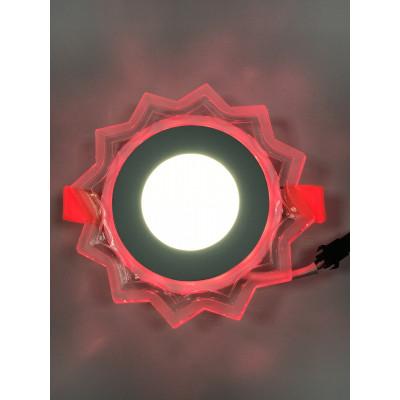 """LED панель """"Солнышко"""" 3+3W с красной подсветкой 320Lm 4500K 175-265V """"LEMANSO"""" LM907 круг"""