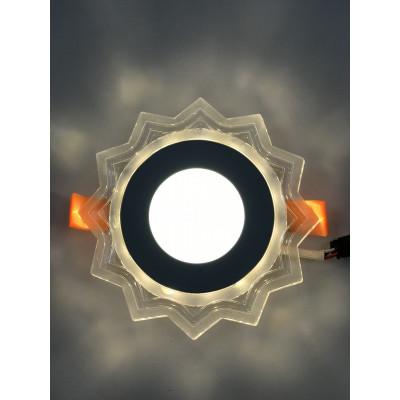 """LED панель """"Солнышко"""" 3+3W с жёлтой подсветкой 320Lm 4500K 175-265V """"LEMANSO"""" LM907 круг"""