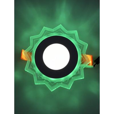 """LED панель """"Солнышко"""" 3+3W с зелёной подсветкой 320Lm 4500K 175-265V """"LEMANSO"""" LM907 круг"""