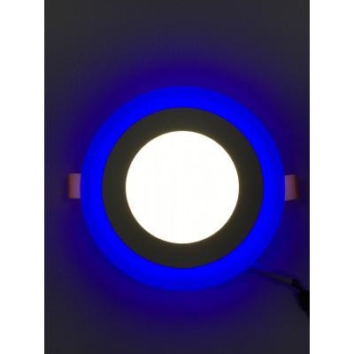 "LED панель 18+6W с синей подсветкой 4500K круг ""LEMANSO"" LM498"