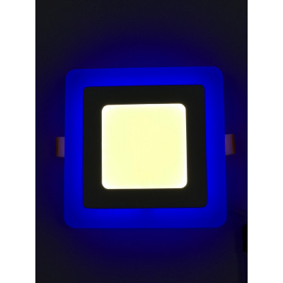 """LED панель 18+6W с синей подсветкой 4500K квадрат """"LEMANSO"""" LM502"""