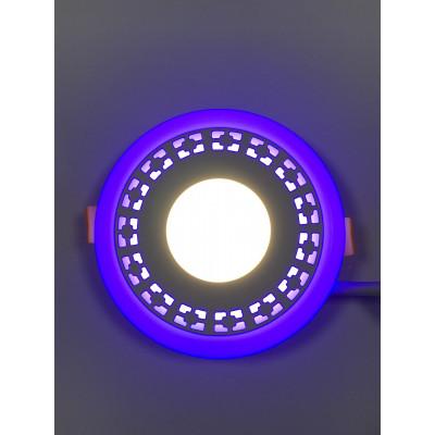 """LED панель """"Кубики"""" 3+3W с синей подсветкой 350Lm 4500K 85-265V круг """"LEMANSO"""" LM554"""