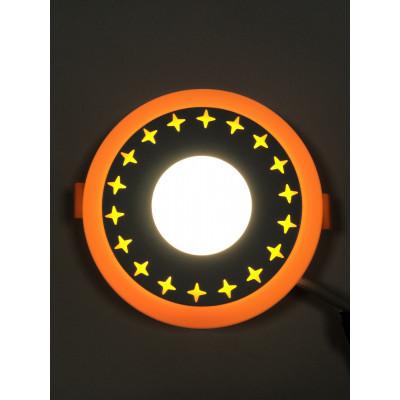 """LED панель """"Звезды"""" 6+3W с жёлтой подсветкой 540Lm 4500K 85-265V круг """"LEMANSO"""" LM540"""