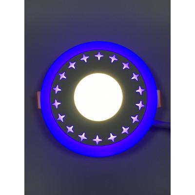"""LED панель """"Звезды"""" 3+3W с синей подсветкой 350Lm 4500K 85-265V круг """"LEMANSO"""" LM535"""