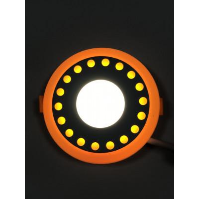 """LED панель """"Точечки"""" 6+3W с жёлтой подсветкой 540Lm 4500K 85-265V круг """"LEMANSO"""" LM542"""