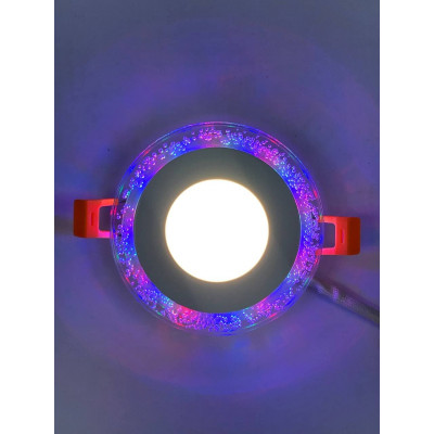 "LED панель 3+3W с RGB подсветкой 350Lm 4500K 175-265V круг ""LEMANSO"" LM1002"