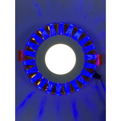 """LED панель """"Тучка"""" 3+3W с синей подсветкой 350Lm 4500K 175-265V круг """"LEMANSO"""" LM1003"""
