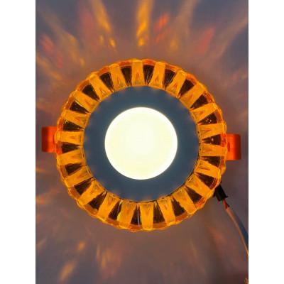 "LED панель ""Тучка"" 3+3W с жёлтой подсветкой 350Lm 4500K 175-265V круг ""LEMANSO"" LM1003"