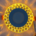 "LED панель ""Иний"" 3+3W с желтой подсветкой 350Lm 4500K 175-265V круг ""LEMANSO"" LM1004"