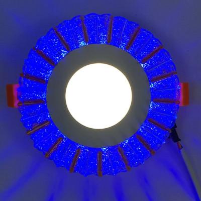 """LED панель """"Снежинка"""" 3+3W с синей подсветкой 350Lm 4500K 175-265V круг """"LEMANSO"""" LM1005"""