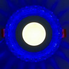 """LED панель """"Вулкан"""" 3+3W с синей подсветкой 350Lm 4500K 175-265V круг """"LEMANSO"""" LM1006"""