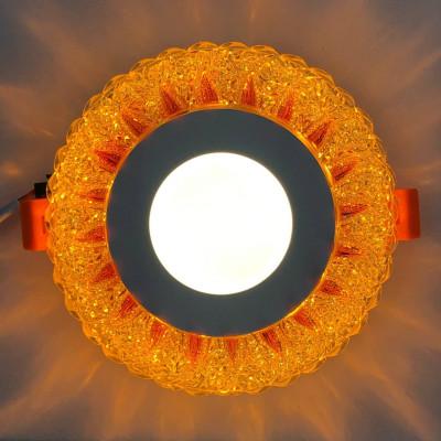 "LED панель ""Стрела"" 3+3W с жёлтой подсветкой 350Lm 4500K 175-265V круг ""LEMANSO"" LM1007"