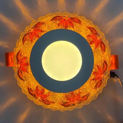 """LED панель """"Пальма"""" 3+3W с жёлтой подсветкой 350Lm 4500K 175-265V круг """"LEMANSO"""" LM1010"""