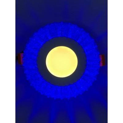 """LED панель """"Луна"""" 3+3W с синей подсветкой 350Lm 4500K 175-265V круг """"LEMANSO"""" LM1011"""