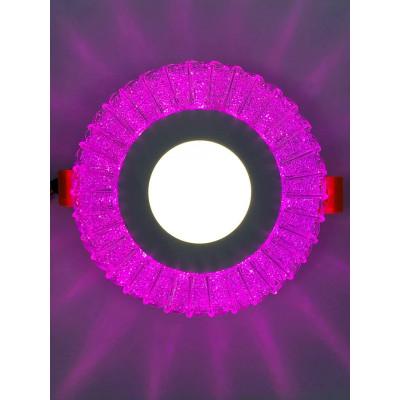 "LED панель ""Луна"" 3+3W с розовой подсветкой 350Lm 4500K 175-265V круг ""LEMANSO"" LM1011"