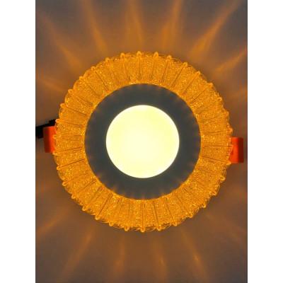 "LED панель ""Луна"" 3+3W с жёлтой подсветкой 350Lm 4500K 175-265V круг ""LEMANSO"" LM1011"