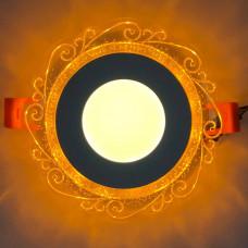 """LED панель """"Волна"""" 3+3W с жёлтой подсветкой 350Lm 4500K 175-265V круг """"LEMANSO"""" LM1016"""