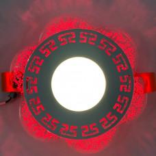 """LED панель """"Афины"""" 3+3W с красной подсветкой 350Lm 4500K 175-265V круг """"LEMANSO"""" LM1018"""