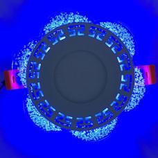 "LED панель ""Афины"" 3+3W с синей подсветкой 350Lm 4500K 175-265V круг ""LEMANSO"" LM1018"