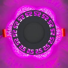 """LED панель """"Афины"""" 3+3W с розовой подсветкой 350Lm 4500K 175-265V круг """"LEMANSO"""" LM1018"""