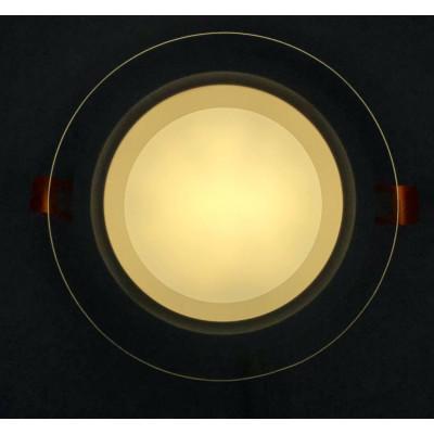 """LED панель 12W 540LM 4500K 85-265V круг+стекло Монтана """"LEMANSO"""" LM1032"""