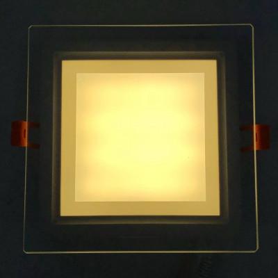 """LED панель 12W 540LM 4500K 85-265V квадрат+стекло Монтана """"LEMANSO"""" LM1035"""