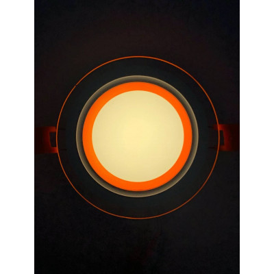 "LED панель ""Сяйво"" 9W 720Lm 4500K + оранж. 85-265V круг + стекло""LEMANSO"" LM1037"