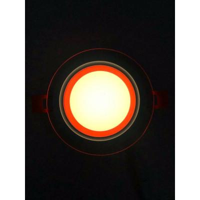 "LED панель ""Сяйво"" 9W 720Lm 4500K + красный 85-265V круг + стекло""LEMANSO"" LM1037"