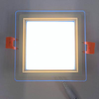 """LED панель """"Сяйво"""" 9W 720Lm 4500K + синий 85-265V квадрат + стекло """"LEMANSO"""" LM1039"""