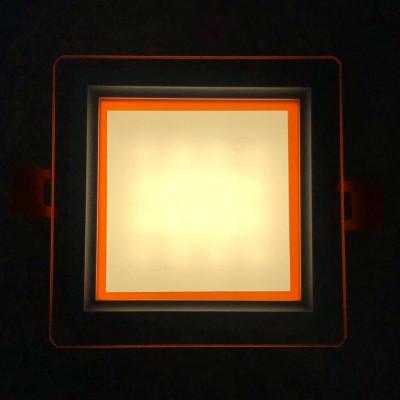 """LED панель """"Сяйво"""" 9W 720Lm 4500K + оранж. 85-265V квадрат + стекло""""LEMANSO"""" LM1039"""