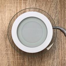 """LED панель круг + стекло 6W 4000К """"LedEX"""" 100173 / 100696"""