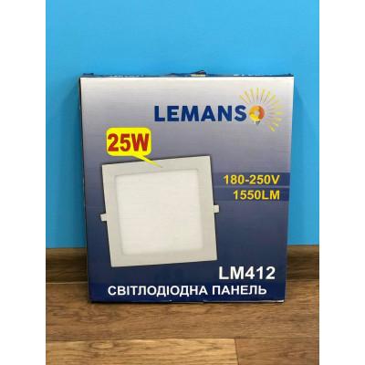 "LED панель 25W 1550LM 4500K квадрат ""LEMANSO"" LM412"