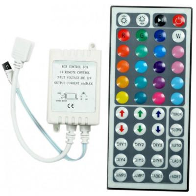 "Контроллер для LED ленты RGB с пультом 12V 72W (44 ключи) ""LEMANSO"" LM9502"