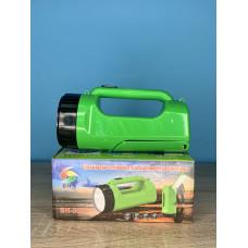 Фонарик ручной 1LED/16LED ( зеленый ) аккумулятор, зарядка от сети 220V ULTRA SVET LP-203