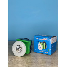 Фонарик налобный 1LED/10LED ( зеленый ) аккумулятор, сеть 220V и солнечная батарея ULTRA SVET LP-606
