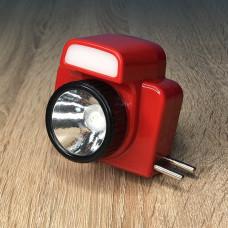 Фонарик налобный 1LED/3LED ( красный ) аккумулятор, зарядка от сети 220V ULTRA SVET LP-502