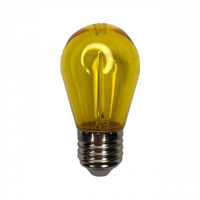 """Лампа светодиодная E27 1W S14 230V жёлтая """"LEMANSO"""" LM3078"""