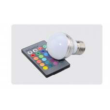 "Лампа светодиодная E27 RGB 5W 350LM с пультом 85-265V ""LEMANSO"" LM734"