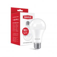 Лампа светодиодная A60 10W 3000K 220V E27 MAXUS 1-LED-775