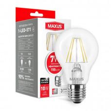 Лампа светодиодная A60 FM 7W 3000K 220V E27 MAXUS 1-LED-571