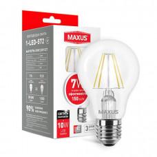 Лампа светодиодная A60 FM 7W 4100K 220V E27 MAXUS 1-LED-572