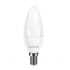 Лампа светодиодная C37 5W 3000K 220V E14 свеча MAXUS 1-LED-731