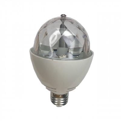 "Лампа светодиодная ""СУПЕР ДИСКО"" E27 RGB 3W 230V ""LEMANSO"" ( гарантия 1год ) LM3027"
