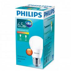 """Лампа светодиодная ESS ESS LEDLustre 6,5-60W 6500K 230V 827_E27 шарик """"PHILIPS"""" 8718696763414"""