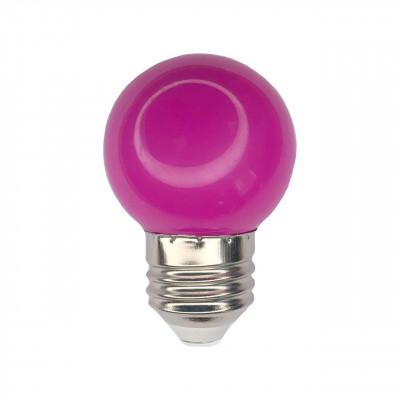 """Лампа светодиодная G45 1,2W E27 фиолетовый шарик """"LEMANSO"""" LM705"""