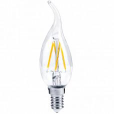 """Лампа светодиодная C35T 4W E14 4LED 3000K свеча на ветру """"LEMANSO"""" LM393"""